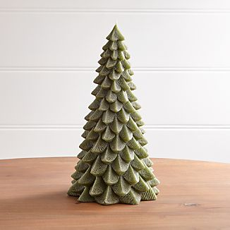 """13"""" Green Pine Tree Candle"""