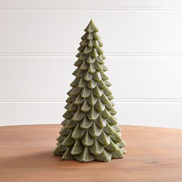 TreeCandle13inGreenSHF17