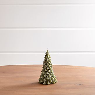 """6"""" Green Pine Tree Candle"""