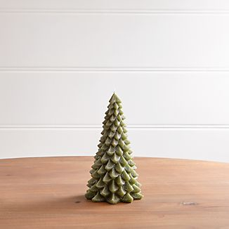 """8"""" Green Pine Tree Candle"""