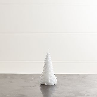 """White 6"""" Tree Candle"""