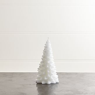 """White 8"""" Tree Candle"""