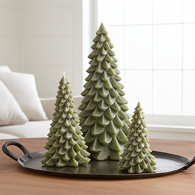 green tree candles crate and barrel - Crate And Barrel Christmas Decorations