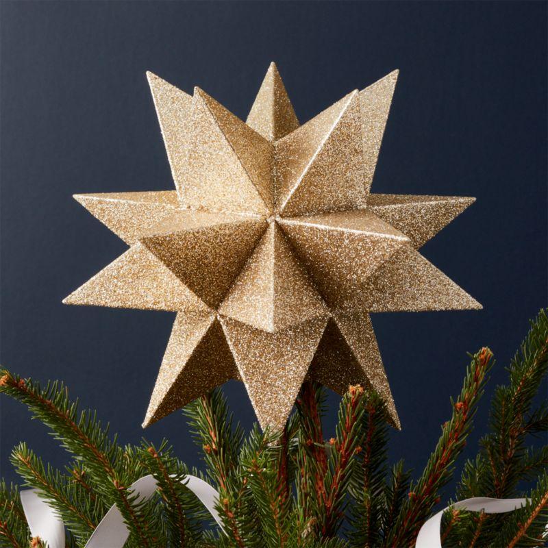 moravian gold star tree topper - Star Christmas Tree Topper