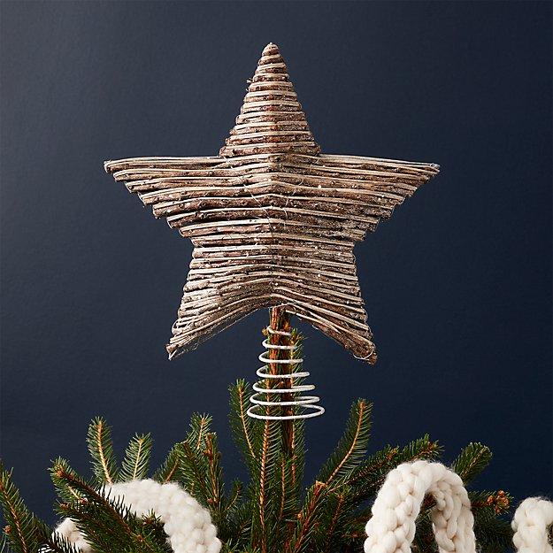 rattan star tree topper - Christmas Tree Topper Star
