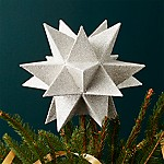 Moravian Silver Star Tree Topper