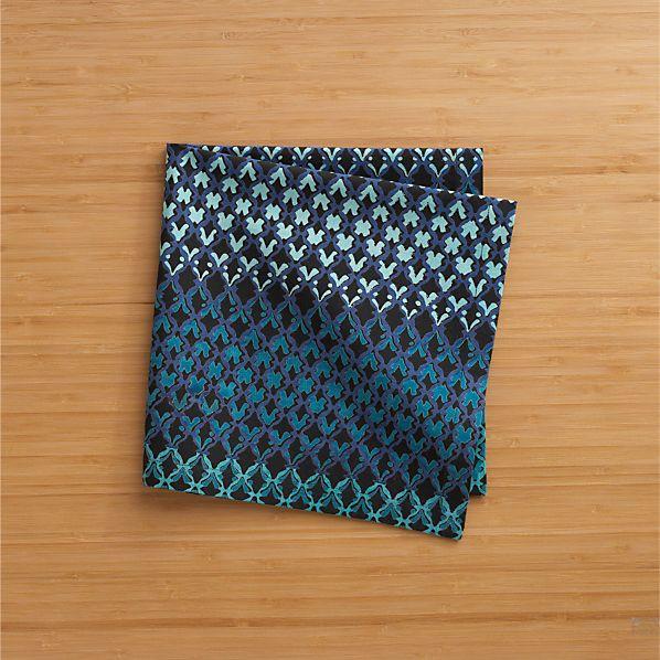 Trellis Blue Napkin