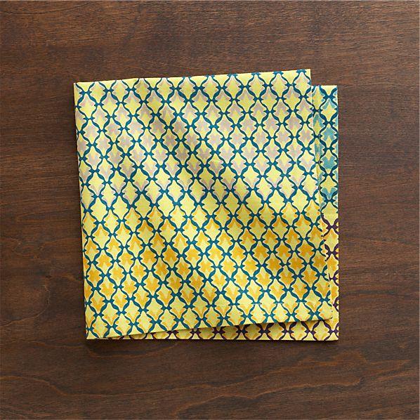 Trellis Yellow Napkin