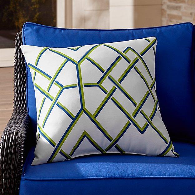 "Trellis 20"" Sq. Outdoor Pillow"