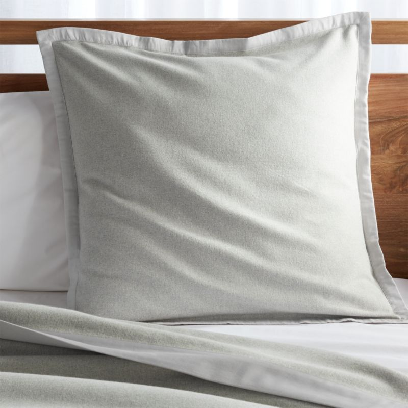 Trent Satin Trim Euro Pillow Sham Reviews Crate And Barrel