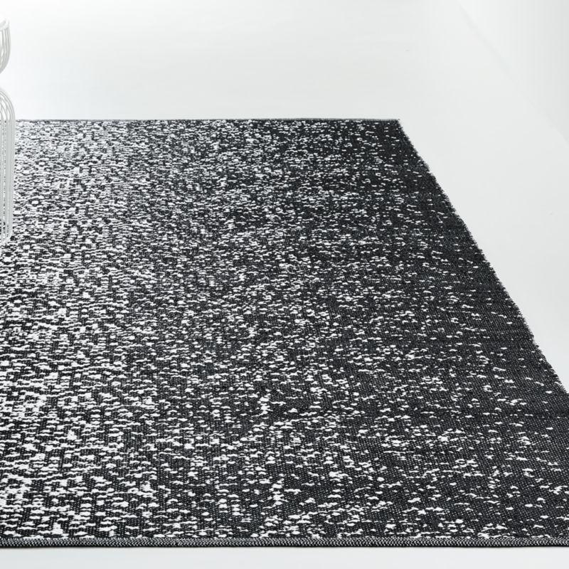 Treo Black Indoor Outdoor Rug