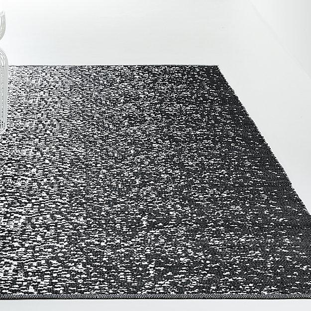Tresello Black Indoor/Outdoor Rug - Image 1 of 5