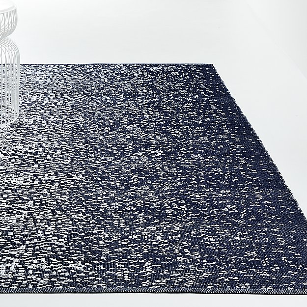 Tresello Blue Indoor/Outdoor Rug - Image 1 of 4