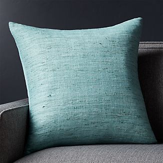 "Trevino Aqua 20"" Pillow with Down-Alternative Insert"