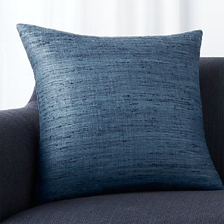 "Trevino Delfe Blue 20"" Pillow with Feather-Down Insert"