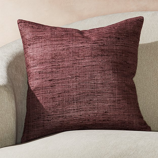 """Trevino Dusty Lavender Pillow with Feather-Down Insert 20"""" - Image 1 of 6"""
