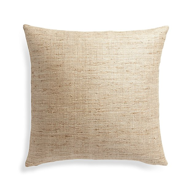 Throw Pillow Covers Crate And Barrel : Tan Pillow Cover Crate and Barrel