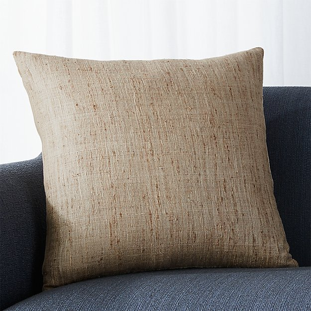 "Trevino Almond 20"" Pillow with Feather-Down Insert"