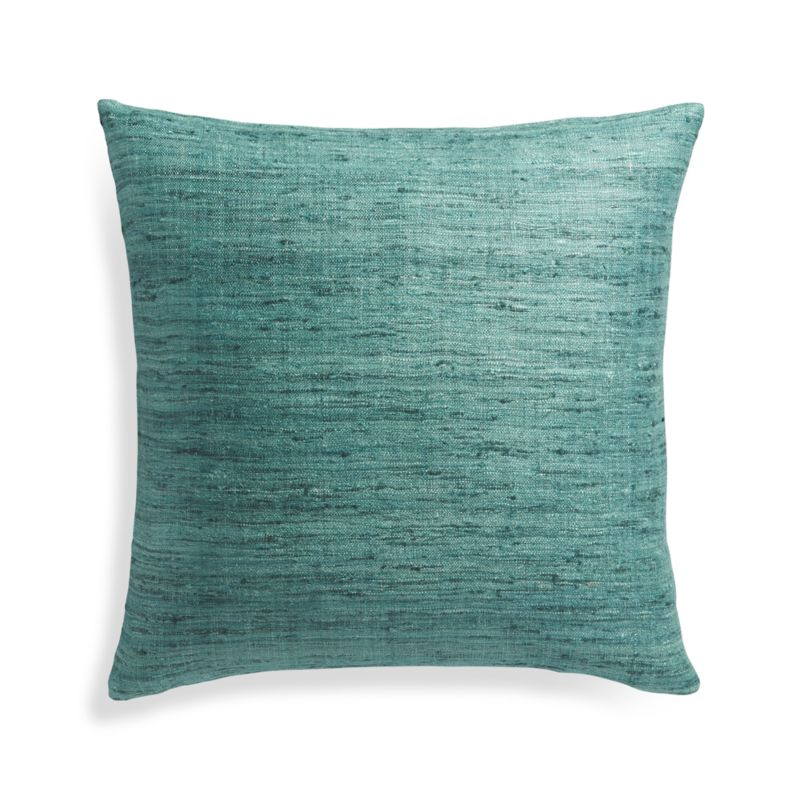 Throw Pillow Covers Crate And Barrel : Teal Blue Pillow Cover in Decorative Pillows + Reviews Crate and Barrel