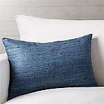 Trevino Delfe Blue 22 x15  Pillow with Feather-Down Insert