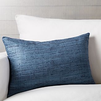 "Trevino Delfe Blue 22""x15"" Pillow with Down-Alternative Insert"