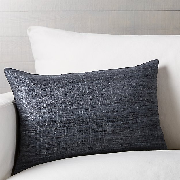 "Trevino Graphite 15""x22"" Pillow with Feather-Down Insert"