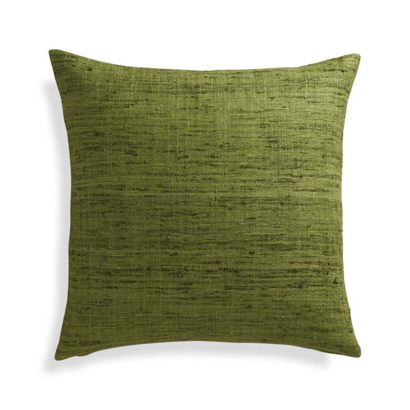 Crate And Barrel Decorative Pillow Covers : Trevino Chive Green 20
