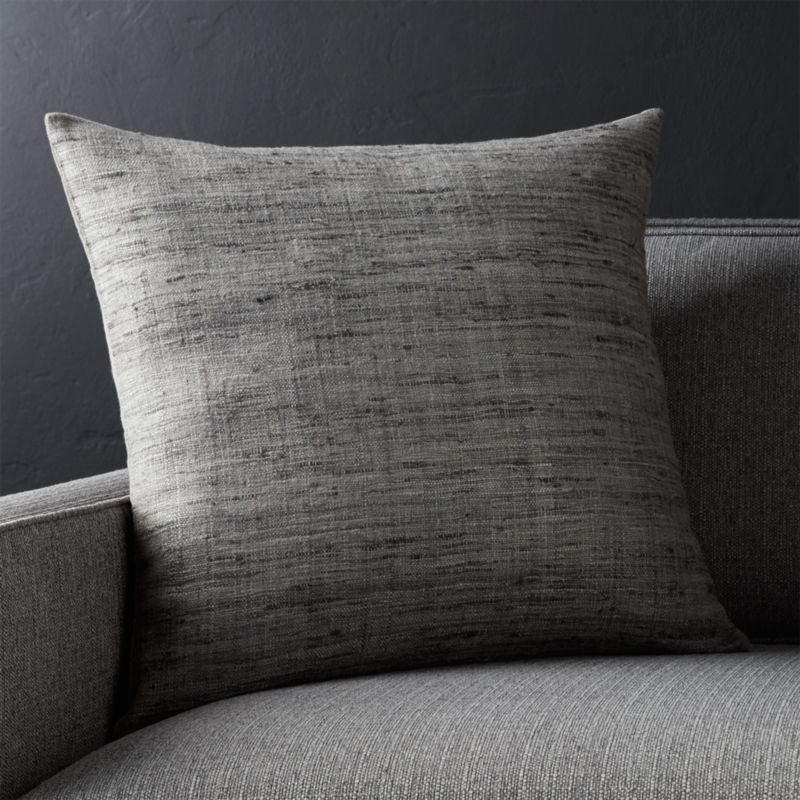 20 Grey Square Pillow Crate And Barrel