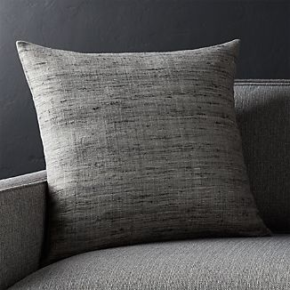 "Trevino Nickel Grey 20""l Pillow with Down-Alternative Insert"