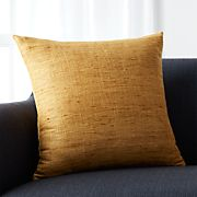 """Trevino Sunflower Yellow 20"""" Pillow with Feather-Down Insert"""