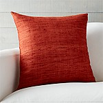 Trevino Terra Cotta Orange 20  Pillow with Feather-Down Insert