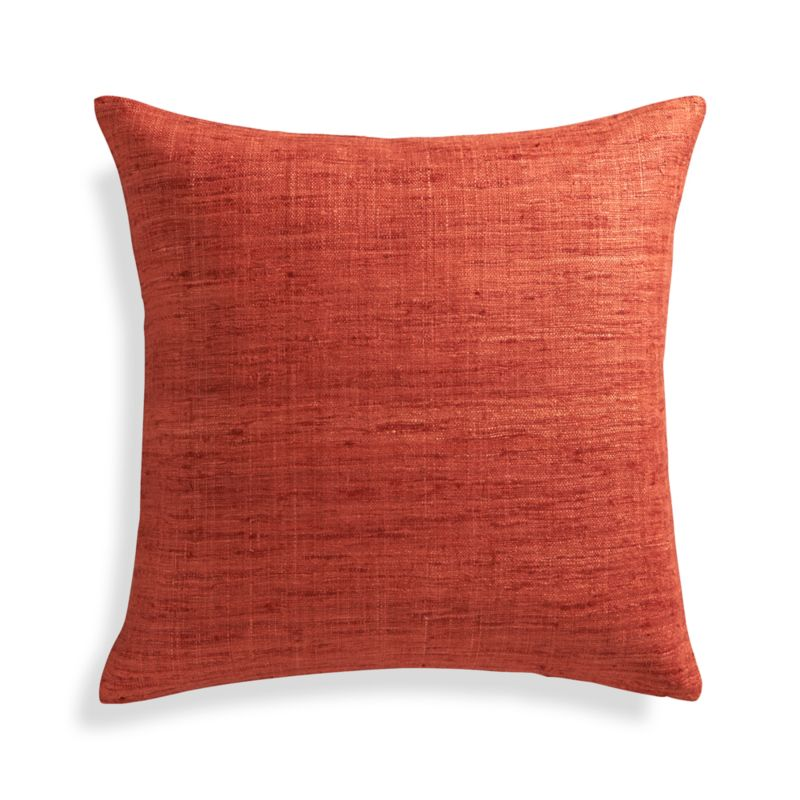 Crate And Barrel Decorative Pillow Covers : Trevino Terra Cotta Orange 20