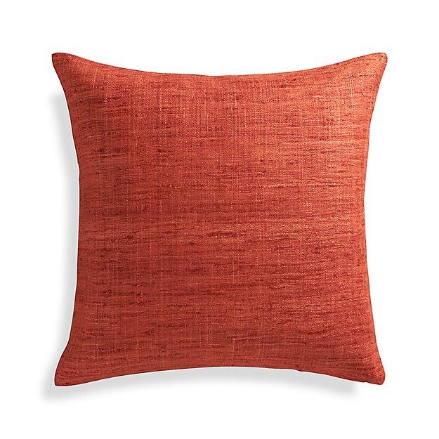 Orange Throw Pillows Crate And Barrel : Trevino Terra Cotta Orange 20