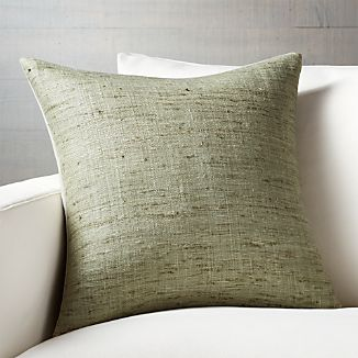 "Trevino Sage Green 20"" Pillow with Down-Alternative Insert"