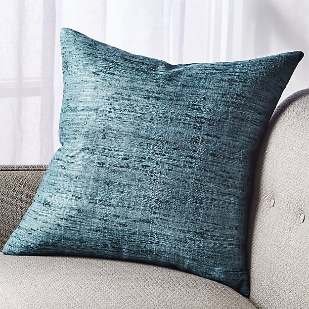 "Trevino Teal Pillow 20"" - Image 1 of 7"