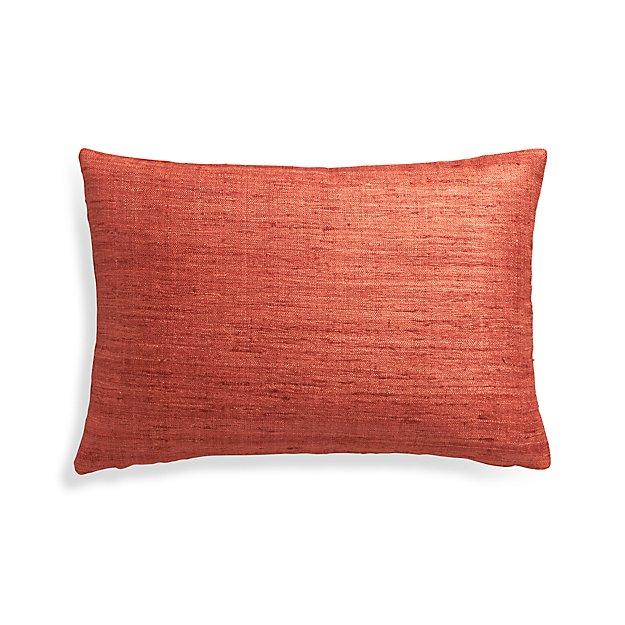 "Trevino Terra Cotta Orange 22""x15"" Pillow Cover"