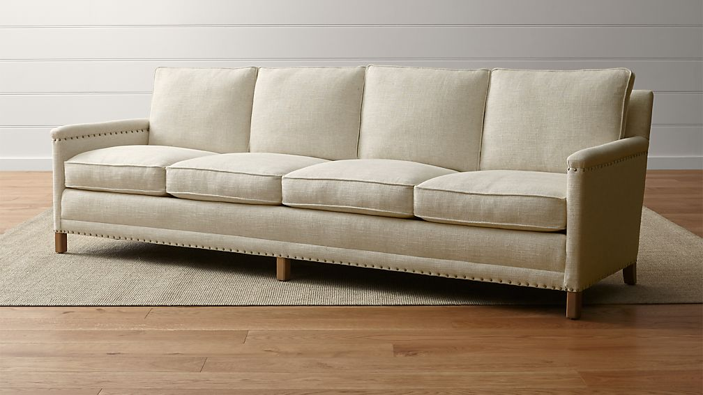 Trevor Oatmeal 4 Seater Sofa + Reviews | Crate and Barrel