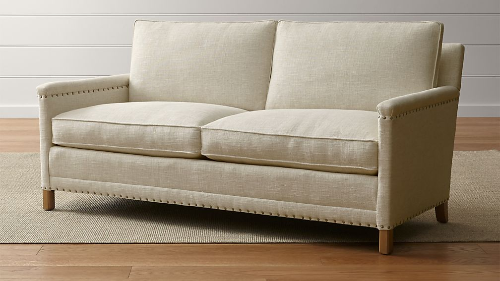 Trevor Oatmeal Apartment Sofa | Crate and Barrel