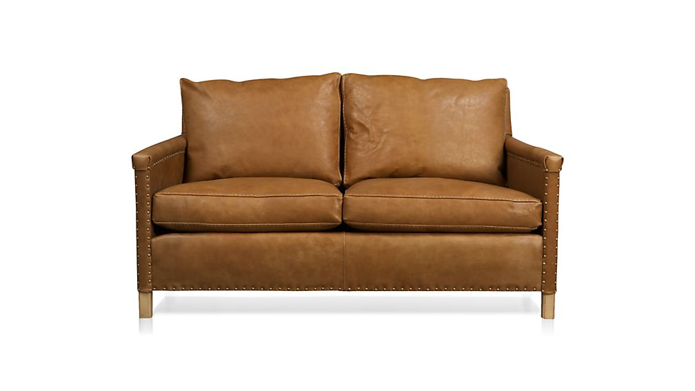 trevor leather apartment sofa crate and barrel