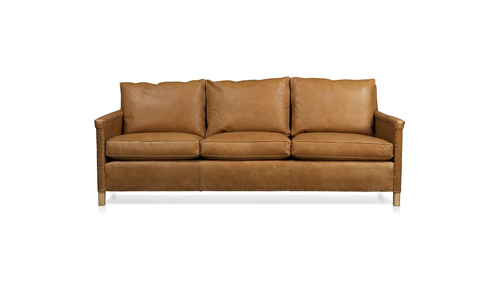 Leather Sofa Images Chesterfield Leather Sofa Pottery Barn Thesofa