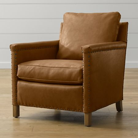 Trevor Leather Chair Reviews Crate