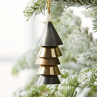 triangle bell black and gold ornament - Black And Gold Christmas Decorations
