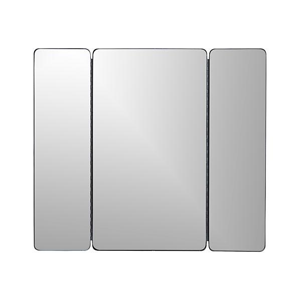 Triple Rectangular Wall Mirror