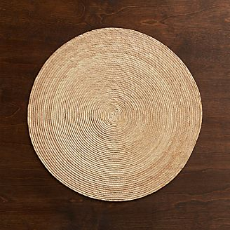 Tropical Palm Natural Round Placemat