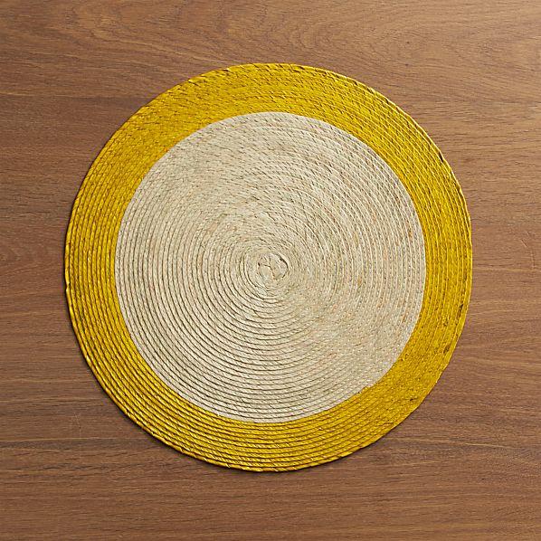 Tropic Palm Yellow Trim Placemat