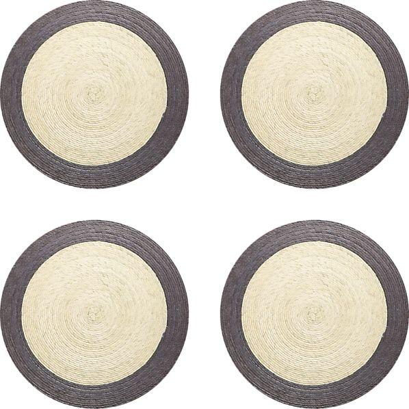 Set of 4 Tropic Palm Dove Trim Placemats