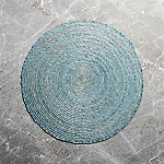 Tropical Palm Sage Round Placemat
