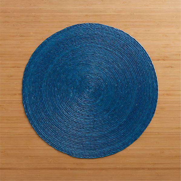 Tropical Palm Blue Placemat