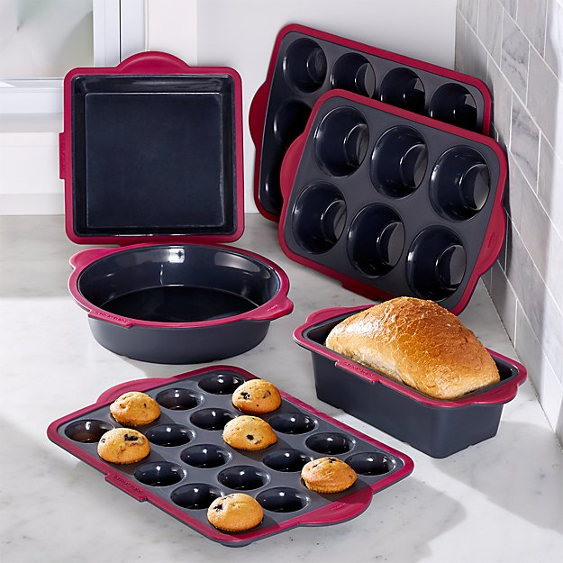 Trudeau 6 Piece Silicone Bakeware Set Crate And Barrel