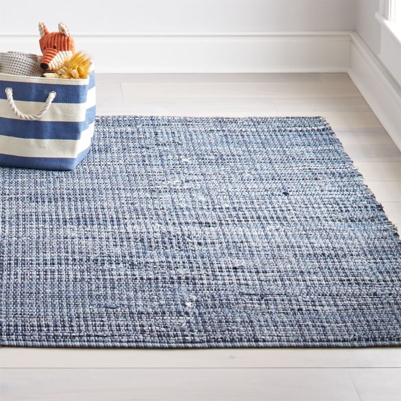 Kids Denim Rag Rug